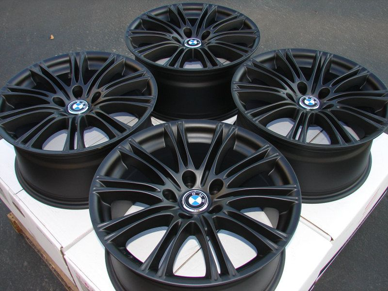 18 New Matt Black Stagger BMW Wheels Rims 5x120 M5 525 528 530 540